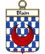 BLAIN French Coat of Arms Print BLAIN Family Crest - $25.00