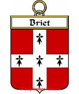 BRIET French Coat of Arms Print BRIET Family Crest - $25.00