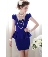 Forever Classy Lady. Royal Blue Peplum Dress. W... - $79.90