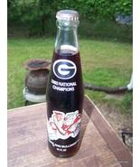 Georgia Bulldog Championship Coke Bottle Lot #369  - $35.00