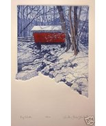 Anita Jones Stanton Icy Winter S/N Etching Original - $44.99