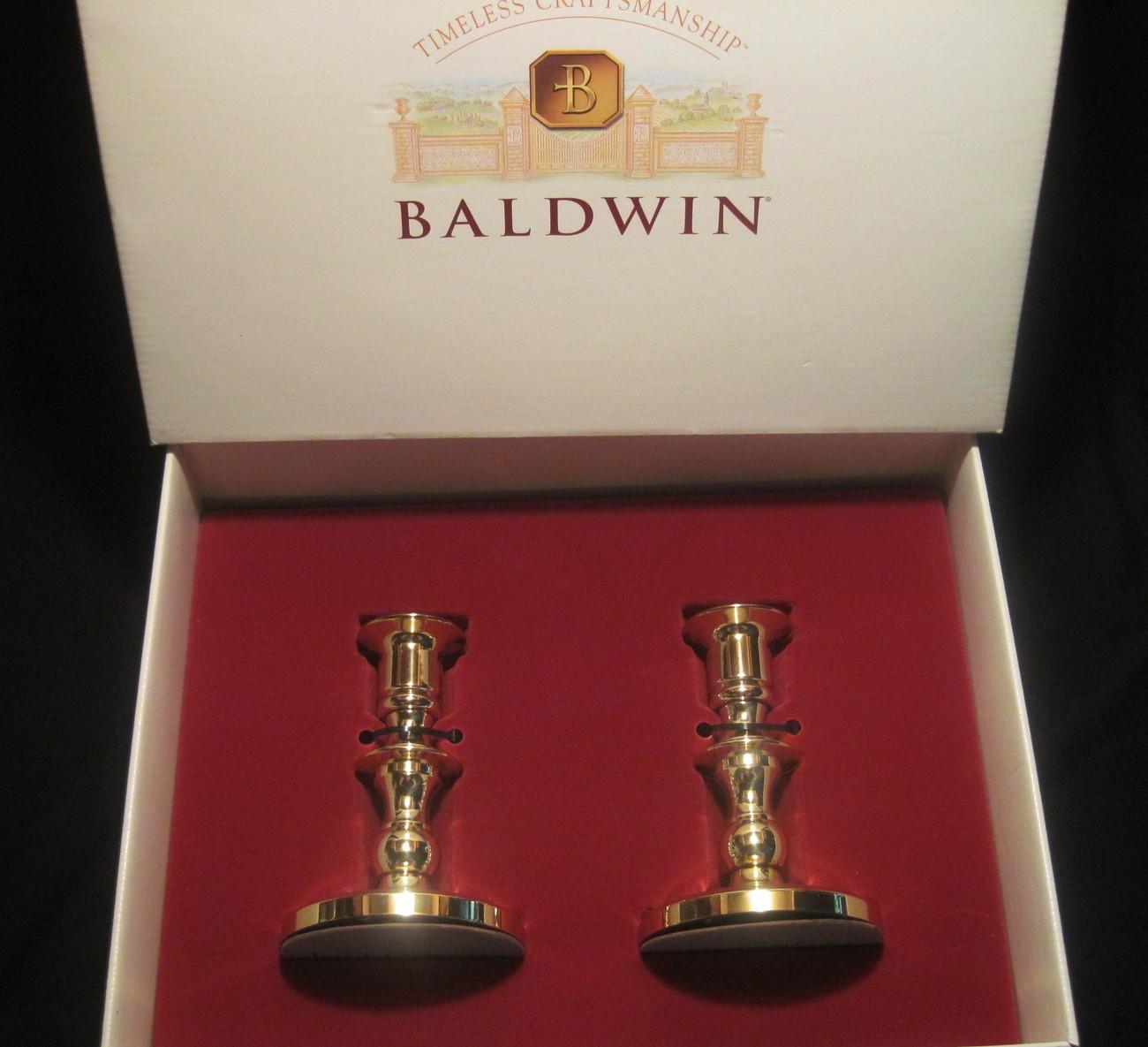 baldwin brass round base candlesticks 7226 030 nib