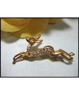 Adorable Rhinestone Gazelle / Deer Pin Brooch - $9.99