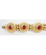 Napier Faux Garnet Bracelet c. 1950s - $50.00