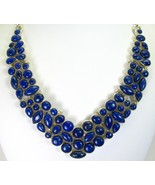 Geometric Blue Lapis Lazuli Cabochons Sterling ... - $307.36