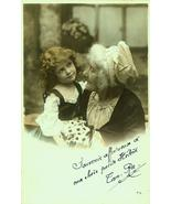 P019-GRANDMOTHER Child-Daisies EDWARDIAN Photo ... - $9.99