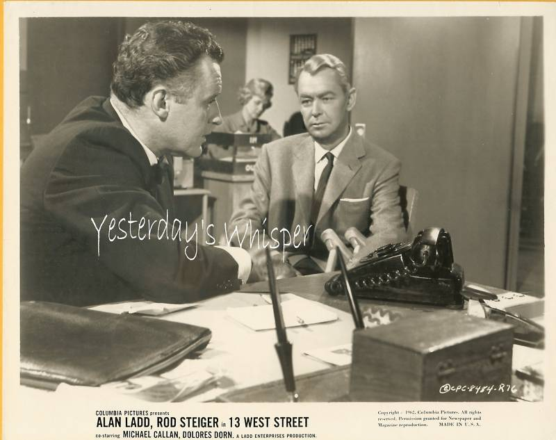Alan Ladd Michael Callan 13 West Street 2 Org Photos