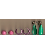 Lot of Colorful Vintage Earrings - assortment p... - $5.00