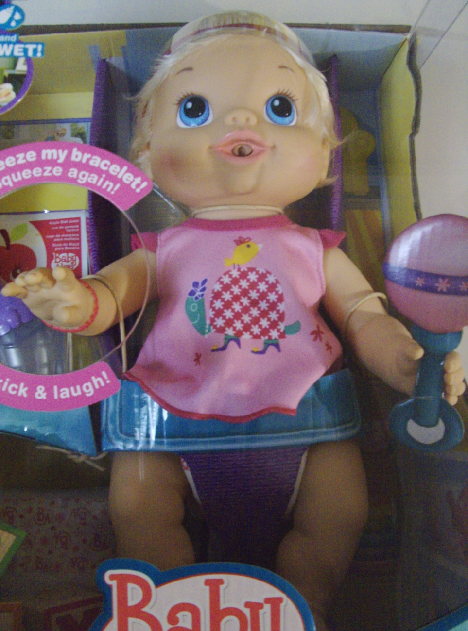 Baby alive wets n wiggles doll new baby alive