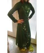 Green oriental Asian ethnic dress costume robe ... - $14.00