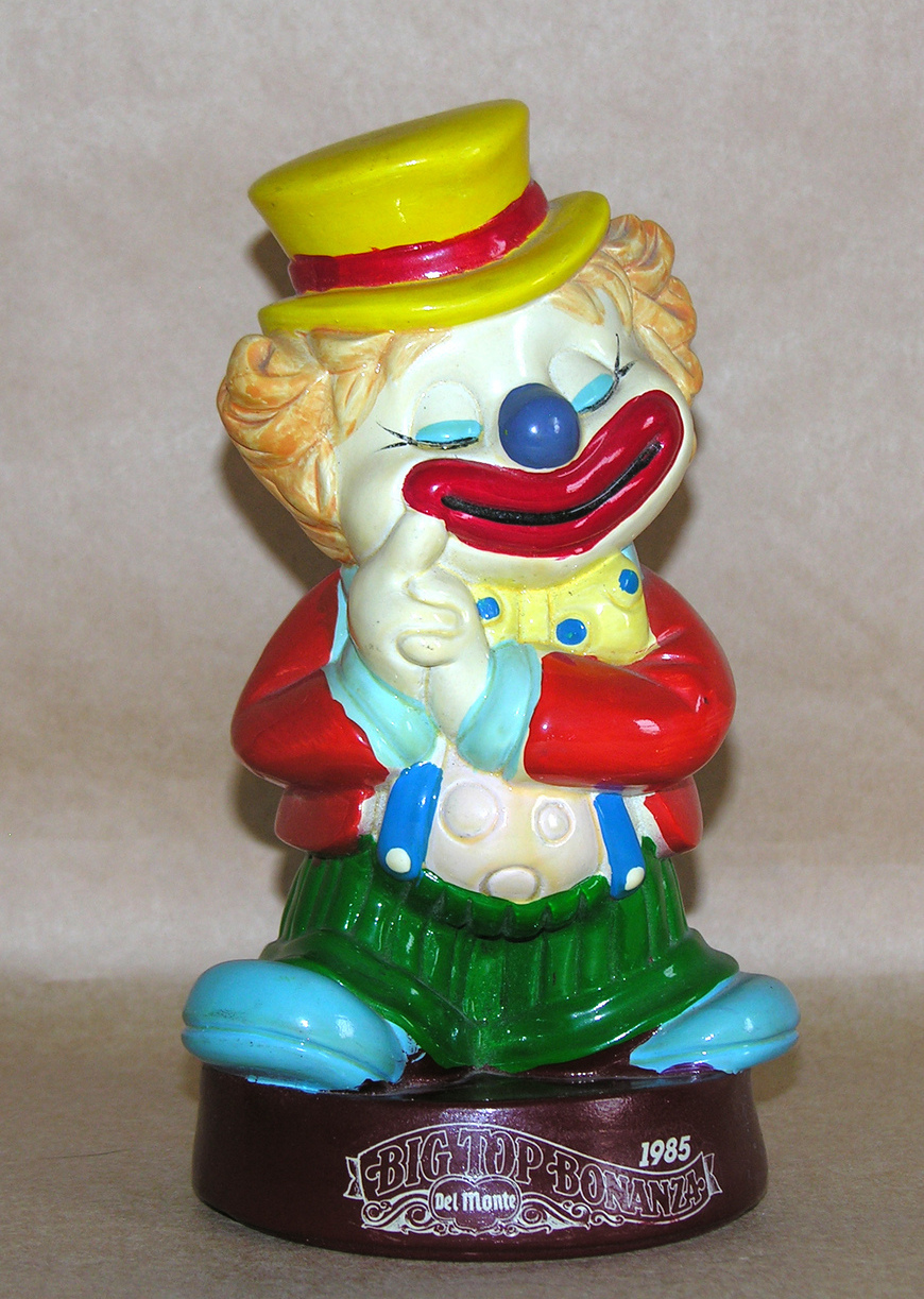 Del Monte Premium 1985 Hard Plastic Clown Bank