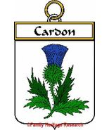 CARDON French Coat of Arms Print CARDON Family ... - $25.00