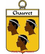 CHAUVET French Coat of Arms Print CHAUVET Famil... - $25.00