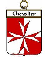 CHEVALIER French Coat of Arms Print CHEVALIER F... - $25.00