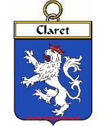 CLARET French Coat of Arms Print CLARET Family ... - $25.00