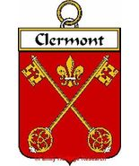 CLERMONT French Coat of Arms Print CLERMONT Fam... - $25.00