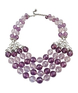 Napier Faceted Purple Bead Couture Runway Bib N... - $215.00