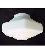 Vianne 4 X 5 X 9 White Satin Art Deco Light Sha... - $79.95