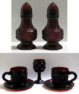 Vintage Avon Cape Cod Ruby Red Salt and Pepper ... - $18.00