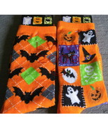 2 pr. Halloween Orange Bat Women's Socks Size 9... - $5.99