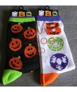 2 pr Halloween jack-o-lantern Women's Socks Siz... - $5.99