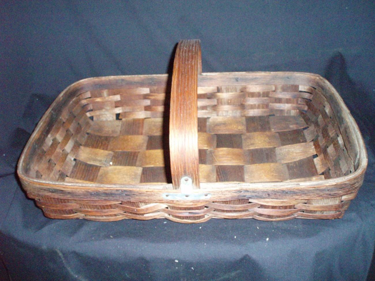 Antique gathering basket flower herbs berries English