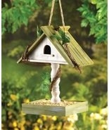 Birdhouse with Bird Seed Feeder Tray - $8.55