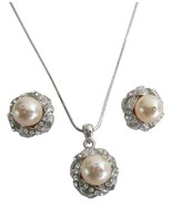 Bridal Bridesmaid Jewelry Peach Color Pendant N... - $22.48