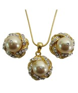 Prom Evening Eelegant Jewelry Gold Pearls Neckl... - $22.48