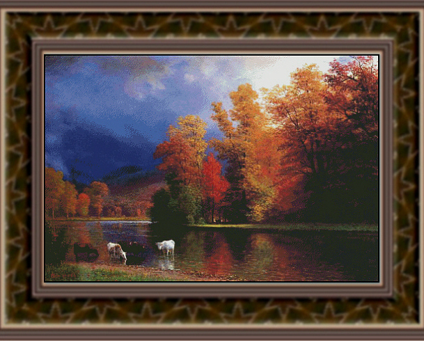 On the Saco  Fine Art Counted Cross Stitch Pattern