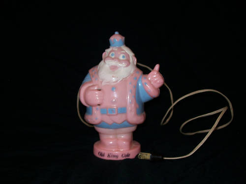 VINTAGE HARETT-GILMAR LIGHTED OLD KING COLE BANK RARE!