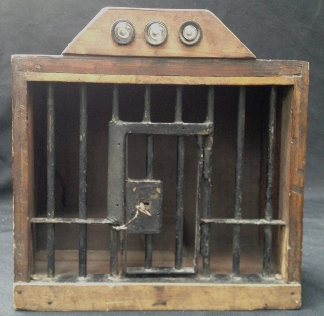 Prison Model Alcatraz Folk Art Model Working Jail Cell Door With Key