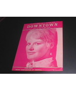 Sheet Music Downtown Petula Clark Pink 4 Pages 1964 Welbeck Music Tony Hatch - $8.99