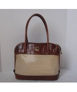 Dooney and Bourke Handbag Purse Satchel Tote Brown Leather Authentic