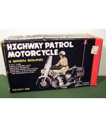 1980s Battery Operated Highway Patrol Mototcycle - $19.99