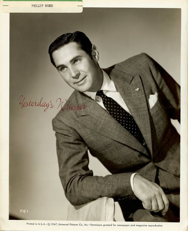 Philip Reed Universal Studios Vintage Publicity Photo