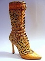 Untamed Leopard Skin High Heel Leg Hugging Tall Boot Sexy Just the Right Shoe