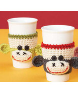 Sock Monkey Cup Cozy Sleeve Good for Hot or Col... - $8.00