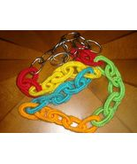 Boho Bohemian Neon Chain Necklace Crocheted Met... - $20.00