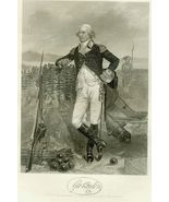 19th c. Steel Engraving GEORGE CLINTON  First G... - $10.00