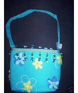Blue~Turquoise Flower Handmade Purse, Handbag, Womens, Misses, Girls