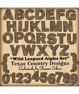 Digital Scrapbooking Wild Leopard Alpha Set - $4.00