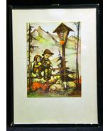 Vintage Hummel Print German Children Alps Sheep - $9.50
