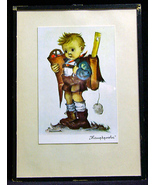 Vintage Hummel Print Hauptprobe Little Scholar  - $12.99
