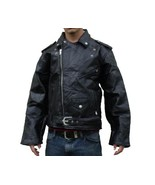 Buffalo Leather Motorcycle Jacket Zip Out Liner... - $52.99