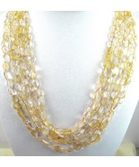 5 Strands of Pale Golden flattened polished Cit... - $214.45