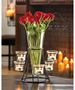 Centerpiece Flower Vase with Candle Holders - $17.00