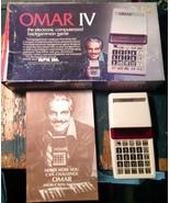Omar IV Vintage Handheld Electronic Backgammon ... - $48.99