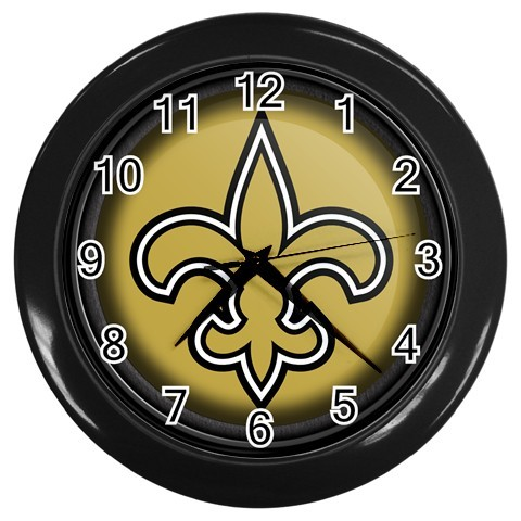 WALL CLOCK HOME  OFFICE NFL  ORLEANS SAINTS