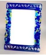 Ocean Blue Potpourri Fused Glass Picture Frame ... - $52.00